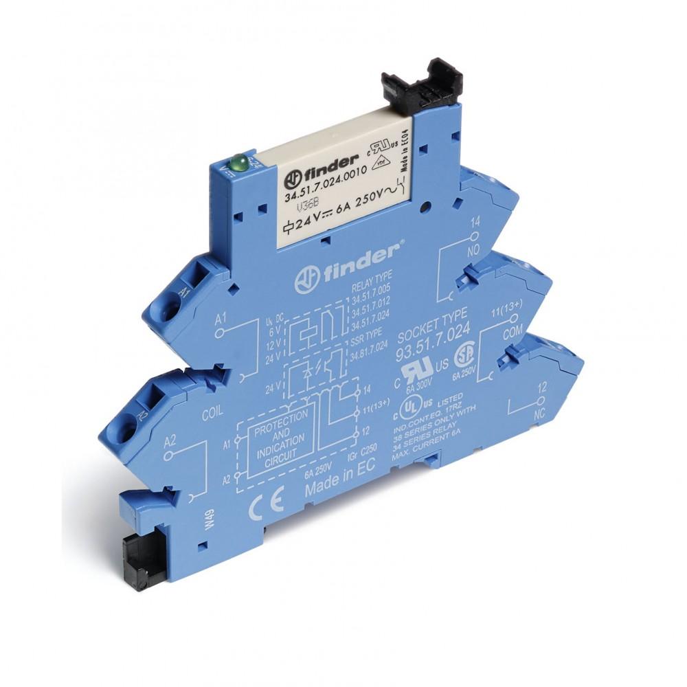 ROHS / INTERFACE MODULAIRE AVEC RELAIS SSR / 2A-24VDC (ALTERNATIF) / BOX 10 PCS