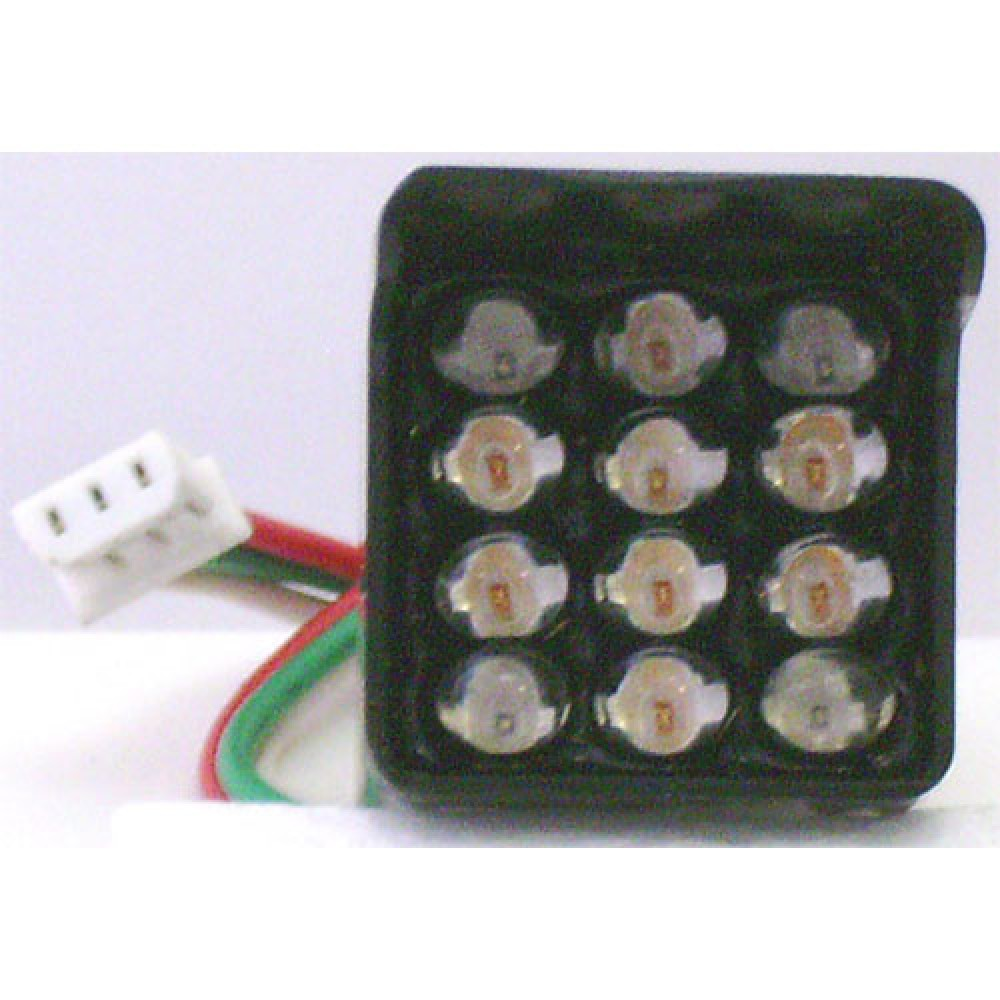 BLOC 12 LEDS 4 ROUGES(1 ANGLE)/8 VERTES