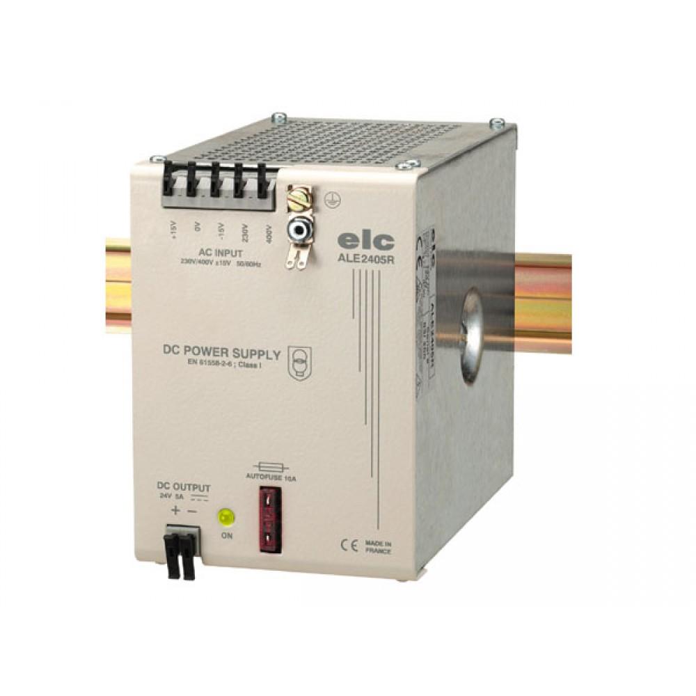 ALIMENTATION REDRESSEE FILTREE 24V 5A - PRIMAIRE 230-400V FIXATION DIN