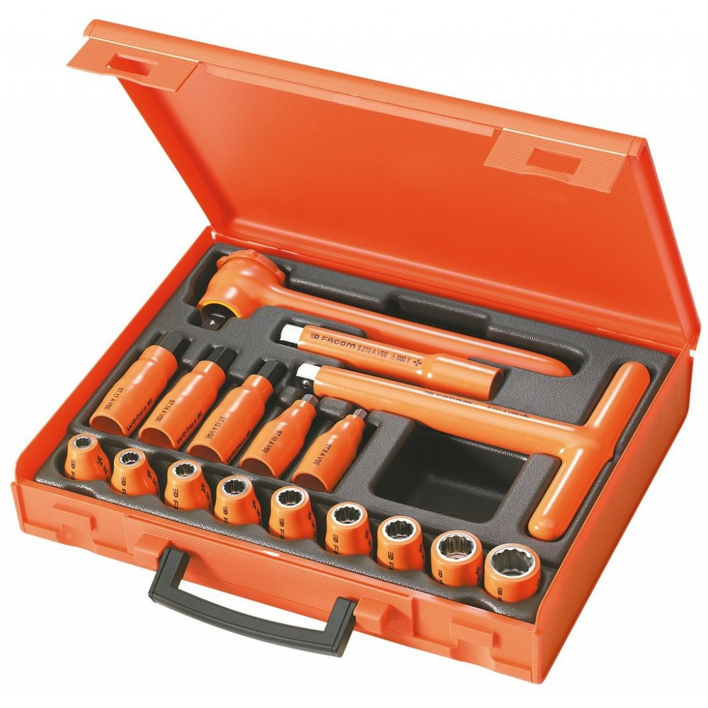 COFFRET 17 OUTILS 1/2' ISOL.